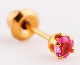 Серьги Rose October classic - 24Kt (90)